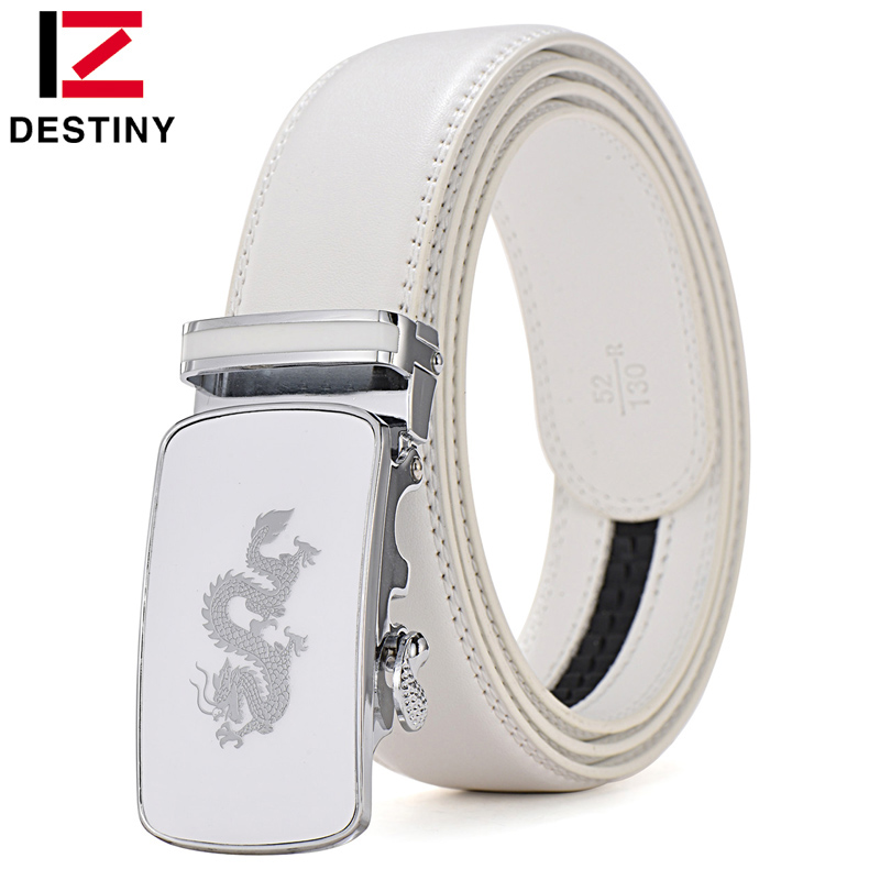DESTINY Designer Belter Menn Høy kvalitet Mann Genuine Leather Strap Dragon Belt Luksus Famous Brand Ceinture Homme Fashion Cinto