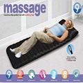 Full-Body Household Massage Tourmaline Mattress Heating Vibrating Head Neck Massager Cushion  Electronic Massage Therapy Bed