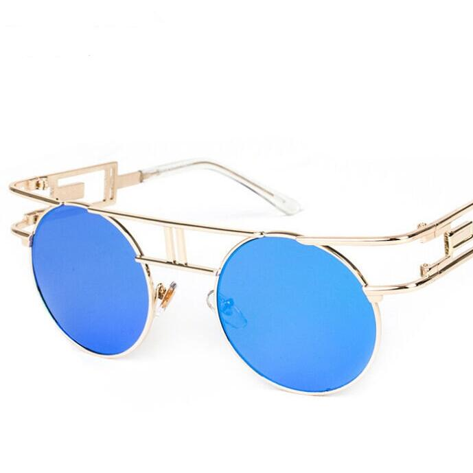 Steampunk Gothic Sunglasses Women Brand Designer Sun glasses Retro Vintage Rose Gold Female Glasses Top Quality
