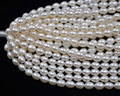 wholesale 1 Strands 6*7-8mm rice freshwater pearl string