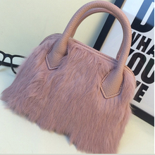 2016 new autumn and winter fashion fashionista, rabbit fur fur shell internal spacer Shoulder Messenger Bag