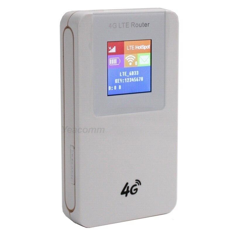 Livraison Gratuite! 4100 Mah batterie externe débloqué Portable 3G 4G LTE CAT4 150 Mbps mini routeur WIFI hotspot avec fente pour carte sim