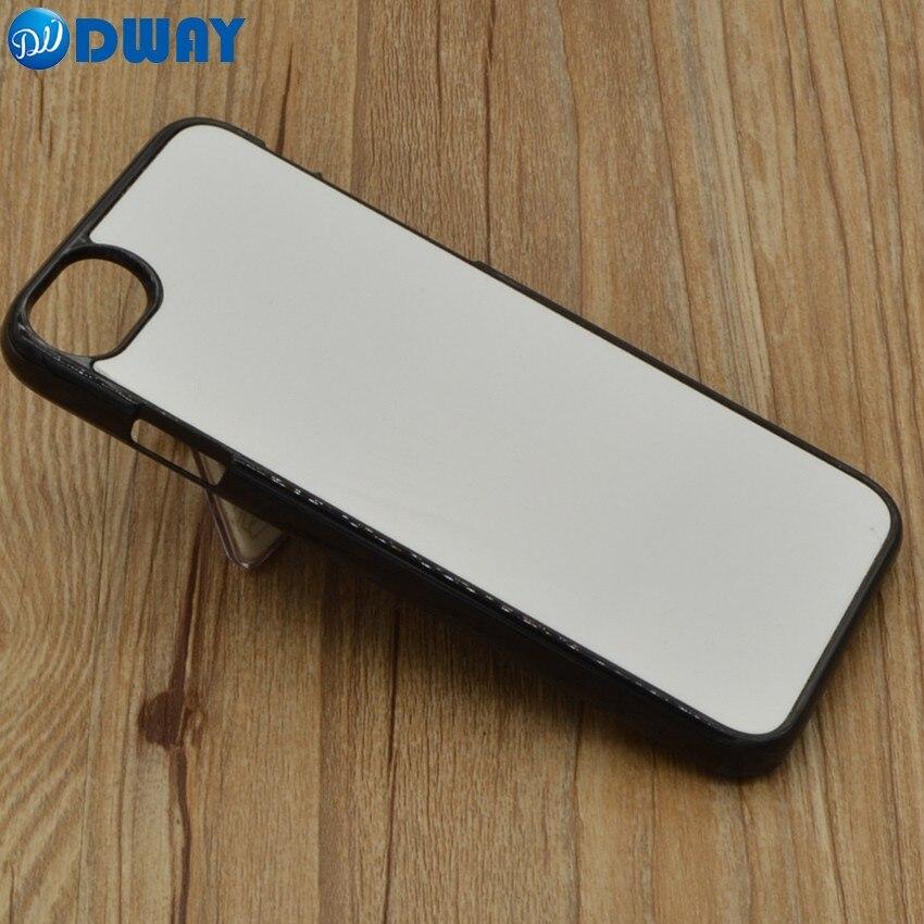imágenes para 2D PC Plástico Duro Caso de la Cubierta En Blanco Sublimación DIY para el iphone 7/7 Plus Con Placa De Aluminio 20 UNIDS/LOTE