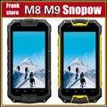 "Gift Bag!Original Snopow M8 M9 IP68 Smartphone PTT Walkie Talkie 4.5"" Android MTK6589 M8 Quad Core phone GPS 3G 4700mAH Battery"
