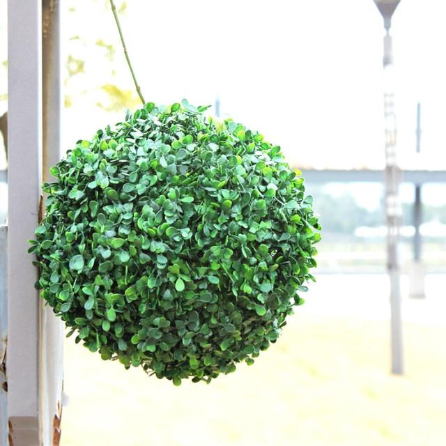 negozio online 1 pz diametro 28 cm palla erba artificiale verde ... - Negozi Arredamento Erba