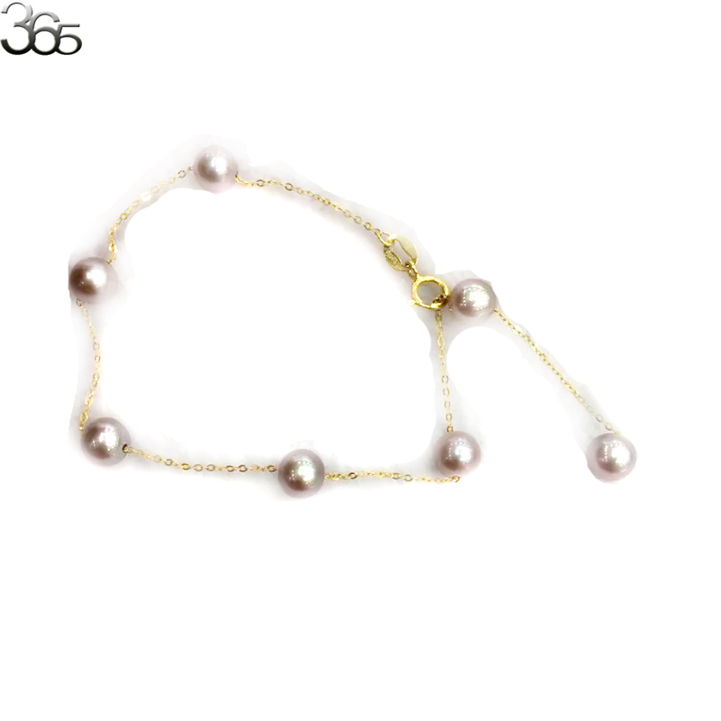 Free Shipping Gift Packed  5-6mm Round 3A Grade Freshwater Pearl Beads Gold Chain Jewelry Bracelet 19cmFree Shipping Gift Packed  5-6mm Round 3A Grade Freshwater Pearl Beads Gold Chain Jewelry Bracelet 19cm