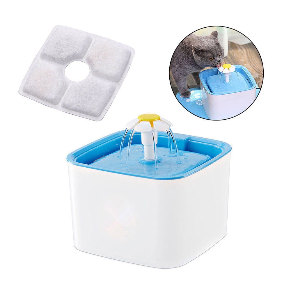 Pet Drinking Fountain Filter Cat Dog Water Drink Dispenser
