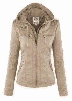Faux Leather Jacket Women 2019 Basic Jacket Coat Female Winter Motorcycle Jacket Faux Leather PU Plus Size Hoodies Outerwear 9