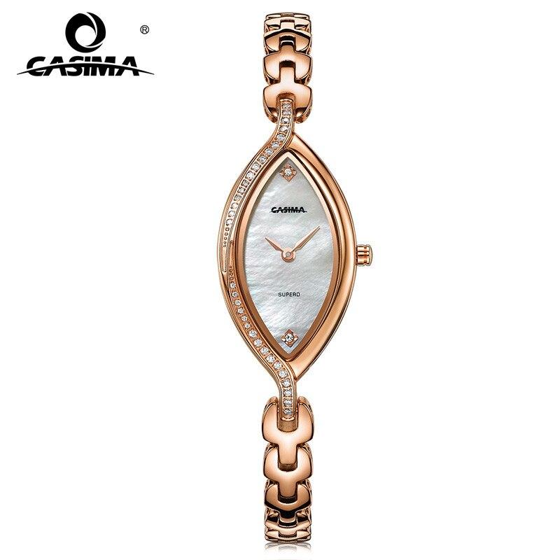 все цены на 2018 Fashion Luxury Brand CASIMA Women's Bracelet Watches Montre Femme Casual Waterproof Ladies Quartz Watch Relojes Mujer #2609 онлайн