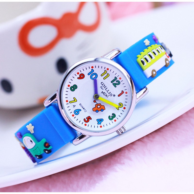 New Cars Cartoon 3D Children Watches Students Kids Wristwatch Fashion Children's Watch For Boy Clock Ladies Relogio Kol Saati