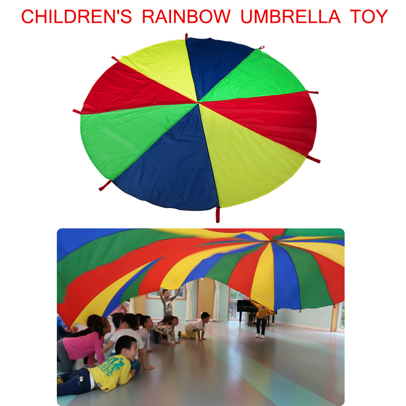 Newly Kids Parachute Toy With Handles Play Parachute Tent Mat Cooperative Games Birthday Gift XSD88