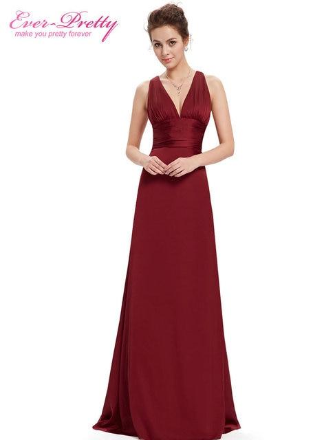 Long Formal Evening Party Dresses Ever Pretty 2017 Court Train HE09008 Sexy V-neck Elegant Cross Back Celebrity Dresses