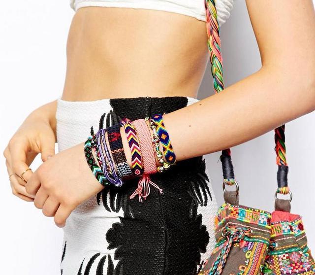 Handmade Weave Charm Fabric Bracelets 2017 Fashion Stack Bohemian Rainbow Colorful Xoxo Samba Boho Friendship