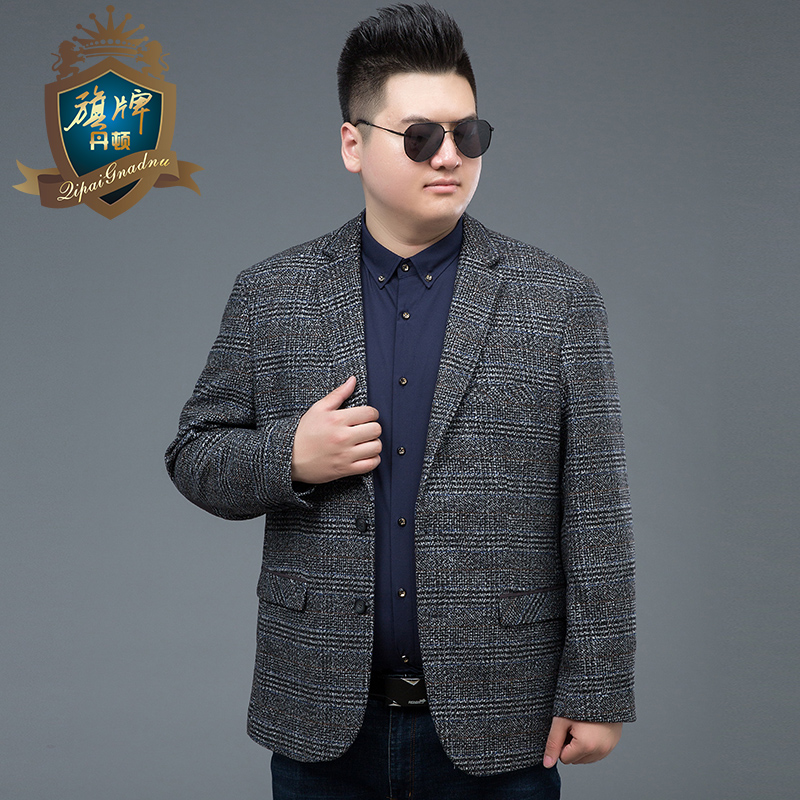 2018 Hot Sale New Arrival Brand Men Plus Size Clothing Autumn Suit Blazer Fashion Grey Male Suits Casual Solid Color Masculine