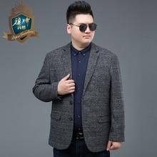 2018 Hot Sale New Arrival Brand Men Plus Size Clothing Autumn Suit Blazer Fashion Grey Male Suits Casual Solid Color Masculine