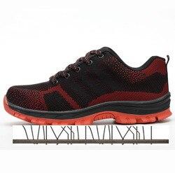 Scarpe di sicurezza Scarpe di Protezione di Sicurezza In Acciaio Toe Scarpe scarpe Per Uomo Scarpe Da Lavoro Da Uomo in Mesh Traspirante Formato 12 Calzature Usura- resistente GXZ512-3