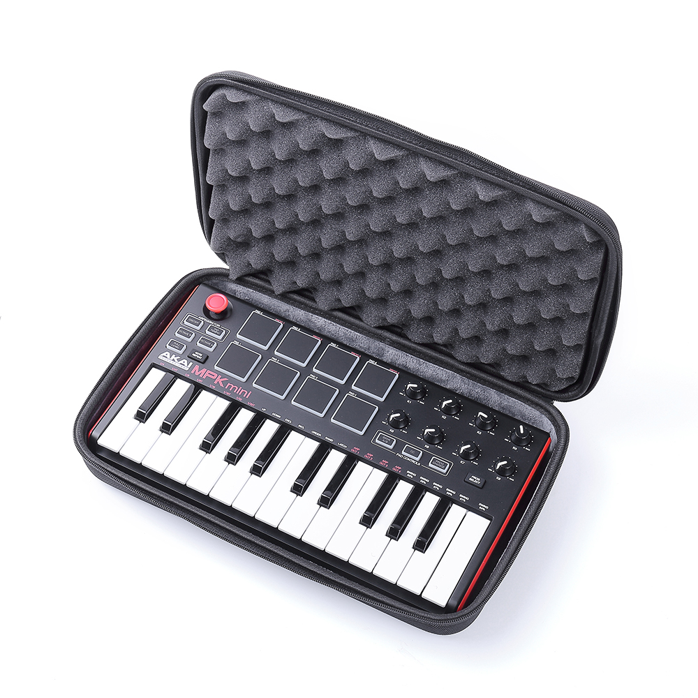 new travel hard carrying case for akai professional mpk mini mkii 25 key ultra portable usb. Black Bedroom Furniture Sets. Home Design Ideas