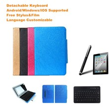 Free Stylus&Screen Protector UNIVERSAL Wireless Bluetooth Keyboard Case For Dell Venue 8 Keyboard Language Layout Customized