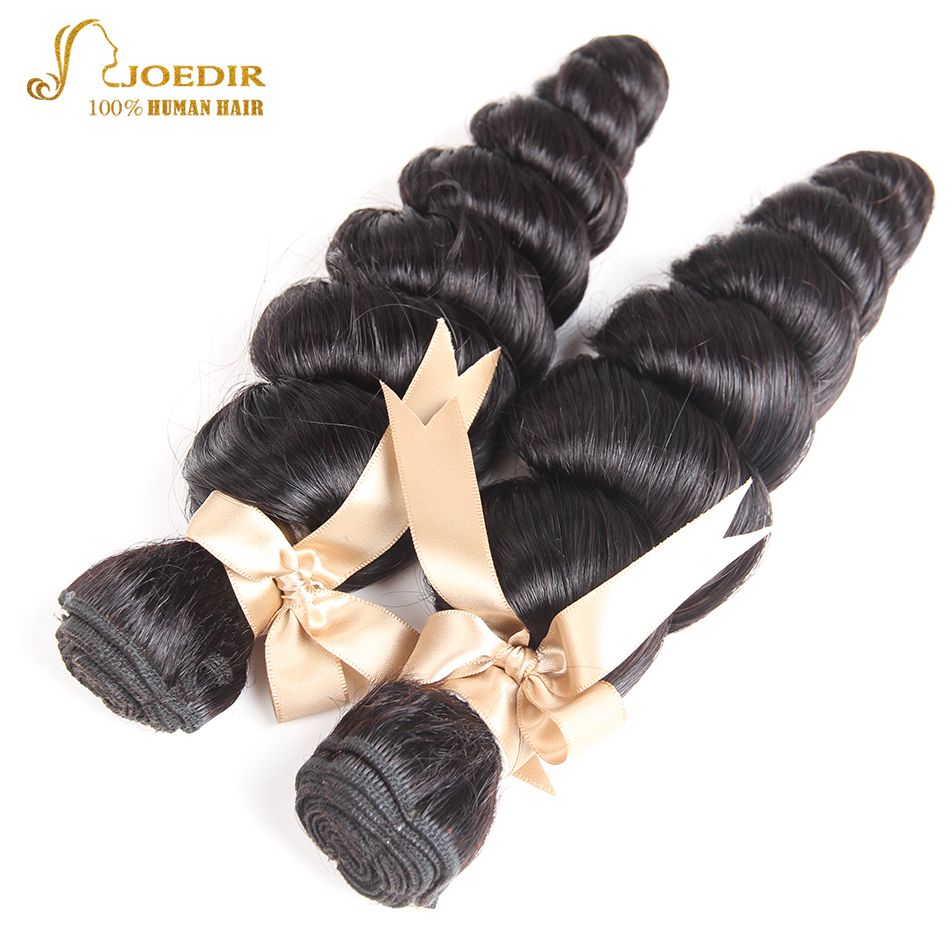 Joedir Hair Loose Wave Indian Hair Weave Bundles 2 pcs Hair Extensions 100% Human Hair Bundles 8-26 in Stock Non Remy