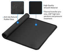 KANHNSKIN 700x300mm Non-Slip naturel Rubber Base Soft Keyboard Gaming Mouse Pad Mat with Stitched Edges