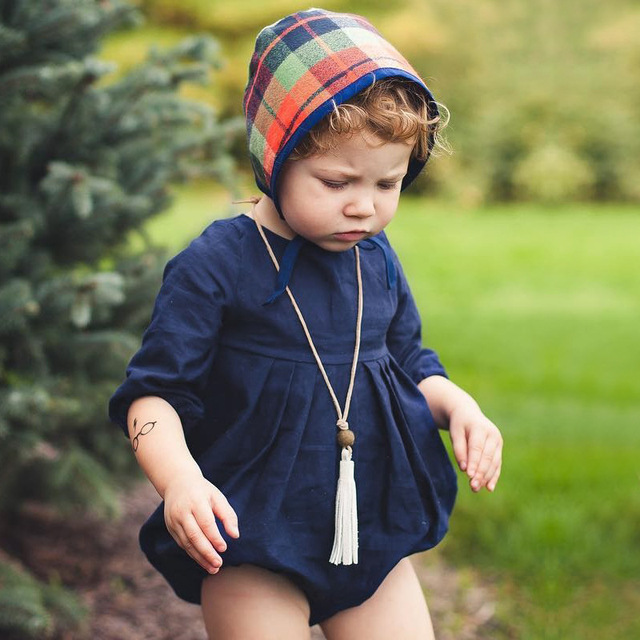 25bff57fa1c4 Baby Girls Winter Bodysuit 2018 Autumn Navy Blue Long Sleeve Bodysuit for Baby  Girls Infant Onesie Jumpsuit Baby Clothes