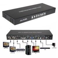 1 Pcs Todos para SDI Conversor HDMI DVI VGA AV Singal Para 2 Portas 3G SDI Splitter Converter Scaler com EUA/UE DC Power adaptador