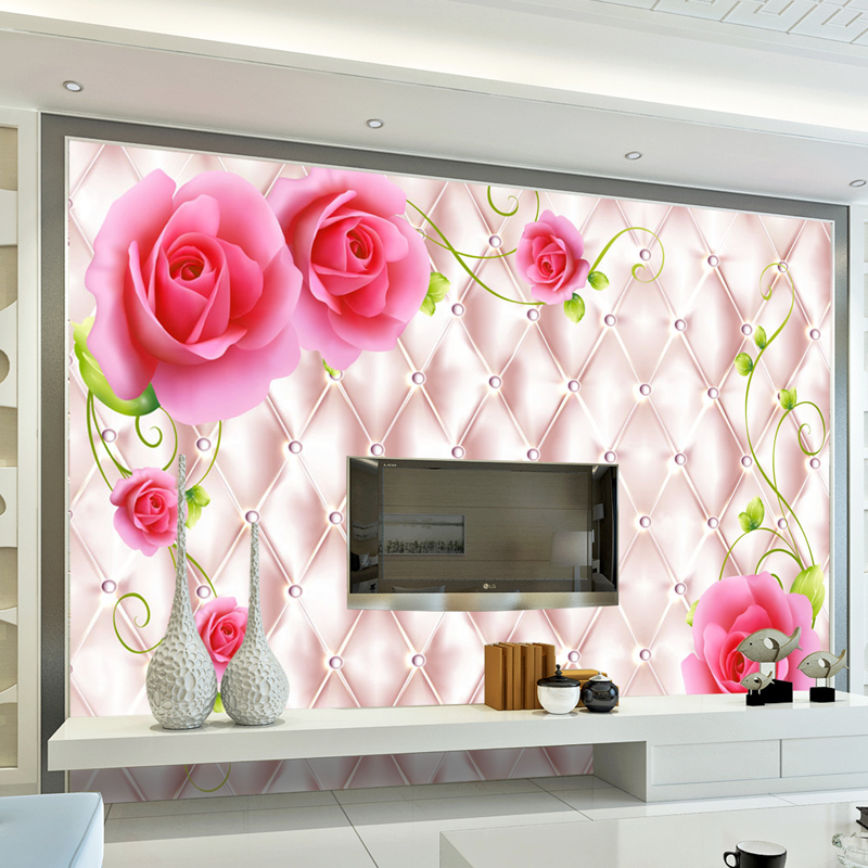 Classic Luxury 3d Photo for Walls livingroom Wall Paper Wallpaper Mural Ceiling Bedroom TV Sofa Background Rose Paper Mural Home shinehome brick wallpapers rolls rose floral 3d room wallpaper for walls 3 d livingroom floral abstract wall mural roll paper
