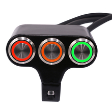 WUPP Universal Handlebar Motorcycle Switches Fog Light  Mount Horn Power Start Switch Aluminum With Indicator