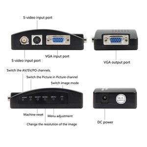 Image 4 - BNC VGA Composite S Video to VGA Converter Video Converter VGA Output Adapter Digital Switch Box for PC Mac TV Camera DVD DVR