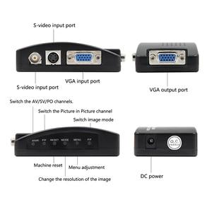 Image 4 - BNC VGA Composite S video ל vga ממיר וידאו ממיר VGA פלט מתאם דיגיטלי מתג תיבת עבור מחשב Mac טלוויזיה מצלמה DVD DVR