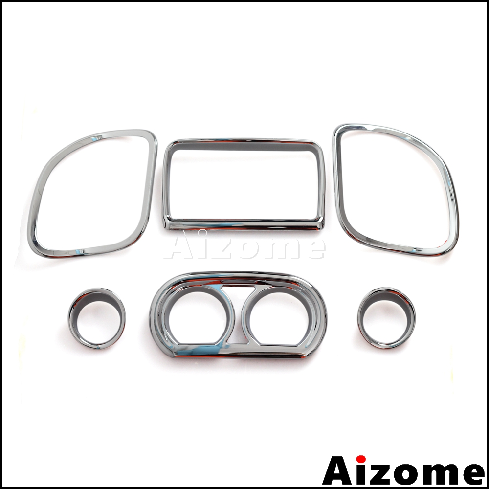 Chrome Inner Fairing Dash Gauge Radio Trim Kit For Harley Road Glide FLTRX Special FLTRXS Road