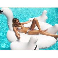 Inflatable giant swan floating rideable swimming pool toy float raft 150cm for both Adults & Child