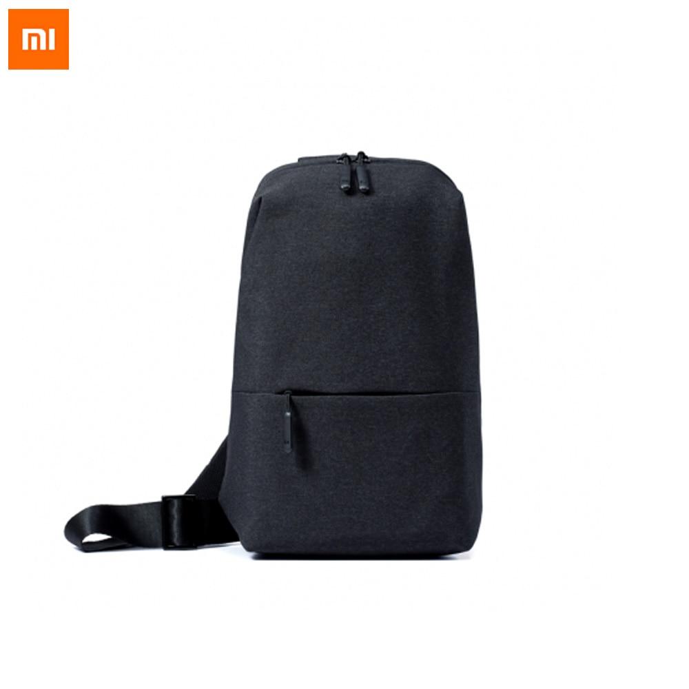 Original Xiaomi Mi Backpack Urban Leisure Chest Pack Bag For Men Women Small Size Shoulder Type Unisex Rucksack Backpack Bags La