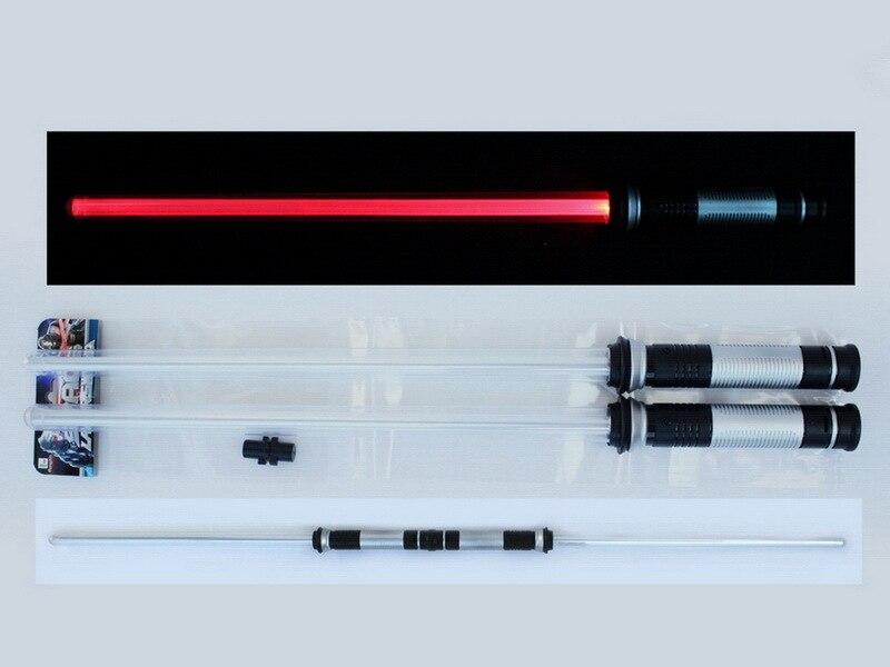 2 taille Star-Wars Sabre Laser Led Clignotant Lumière Épée Jouets Cosplay Armes Peut Mutuelle percussion Sabres pour garçons D'action