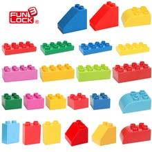 Funlock Duplo Строительные Блоки Кирпичи Строительство Сборка Основных Элементов Самоблокирующимся Развивающие Игрушки Игры Для Детей