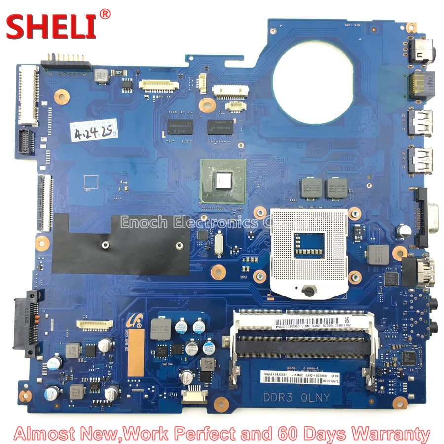 SHELI BA92-07596A BA92-07596B Laptop Motherboard For Samsung NP-RC410 RC410 HM55 Jinmao_L BA41-01433A GT 315M Main Board