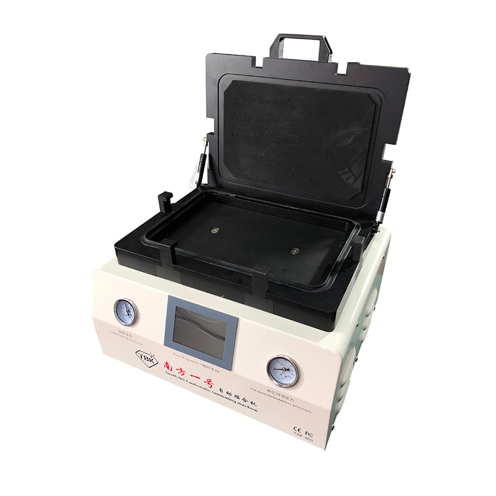 Купить с кэшбэком TBK-808 OCA Vacuum Laminating Machine Automatic Bubble Removing Machine For LCD Touch Screen Repair With Automatic lock Gas