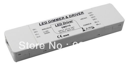 送料無料0 10ボルトledディマー& ledドライバ定電圧2チャンネル入力〜dc24vシングルch <6a max出力288ワットmdl: DM9110 -