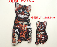Free Shipping Cartoon Sequins Cat Patch For Clothes Sweater DIY Paillette Embroidery Applique Animal Sequins Patch