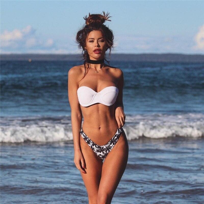 2019 Two-piece Sexy Women Padded Bra Push-up Monokini Ladies Swimwear Bikini Swimsuit Bathing Suit SwimmingClothing