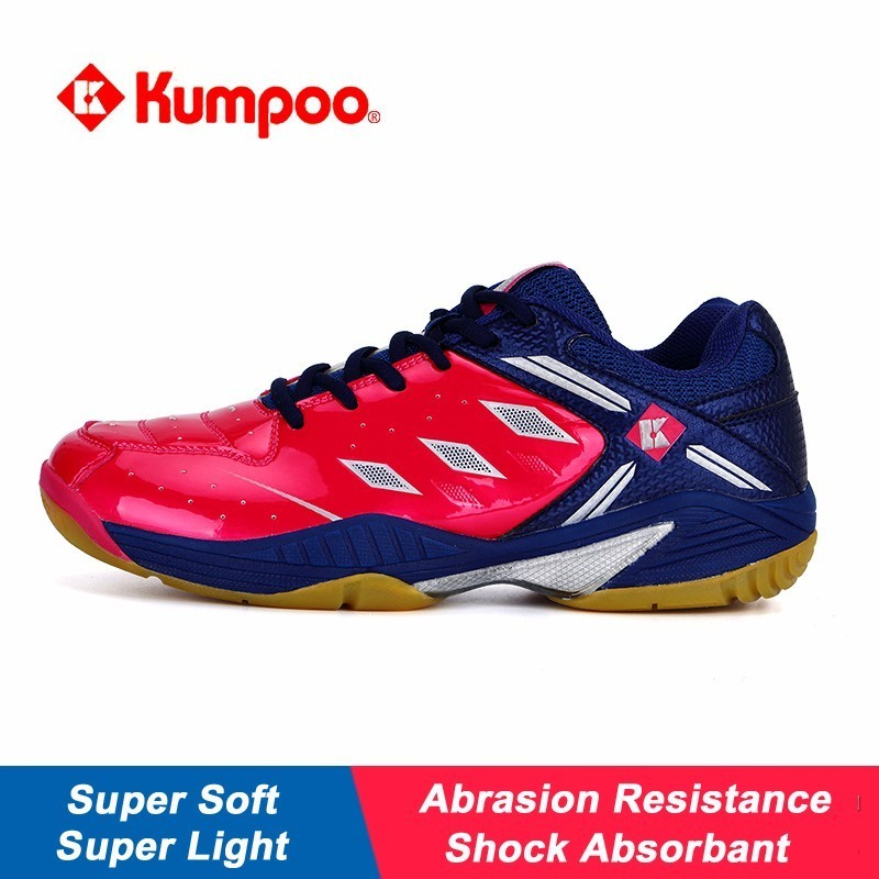 Kumpoo Professional Badminton Shoes Anti-skid Super Light Soft Breathable Sneakers for Men and Women KH43 L802 professional kumpoo unisex shoes badminton light cushioning comfortable sports sneakers for men and women breathable kh 205 l799