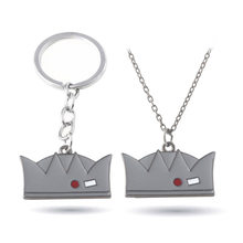 HOT Movie Riverdale necklaces Grey Enamel Crown Pendants High Quality metal pendant Accessories Woman Man jewelry(China)