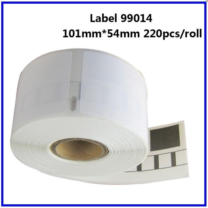 LUDEOU For Dymo Labelwriter 450 Label Printer Label Maker Tapes 99014 Address Sticker 101mm 54mm 220pcs
