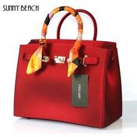 NẮNG BÃI BIỂN New Luxury Matte PVC Phụ Nữ Không Thấm Nước túi Bolsa Totes Ví Phụ Nữ Shoulder Bags Messenger túi thạch túi xách