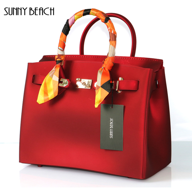 Sunny Beach New Luxury Matte Pvc Waterproof Women Bag Bolsa Totes Purses Shoulder Messenger Bags
