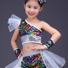 Танцы Одежда для девочек джаз танец улица Танцы Производительность костюмы Детская современный Танцы модель Подиум блесток костюмы