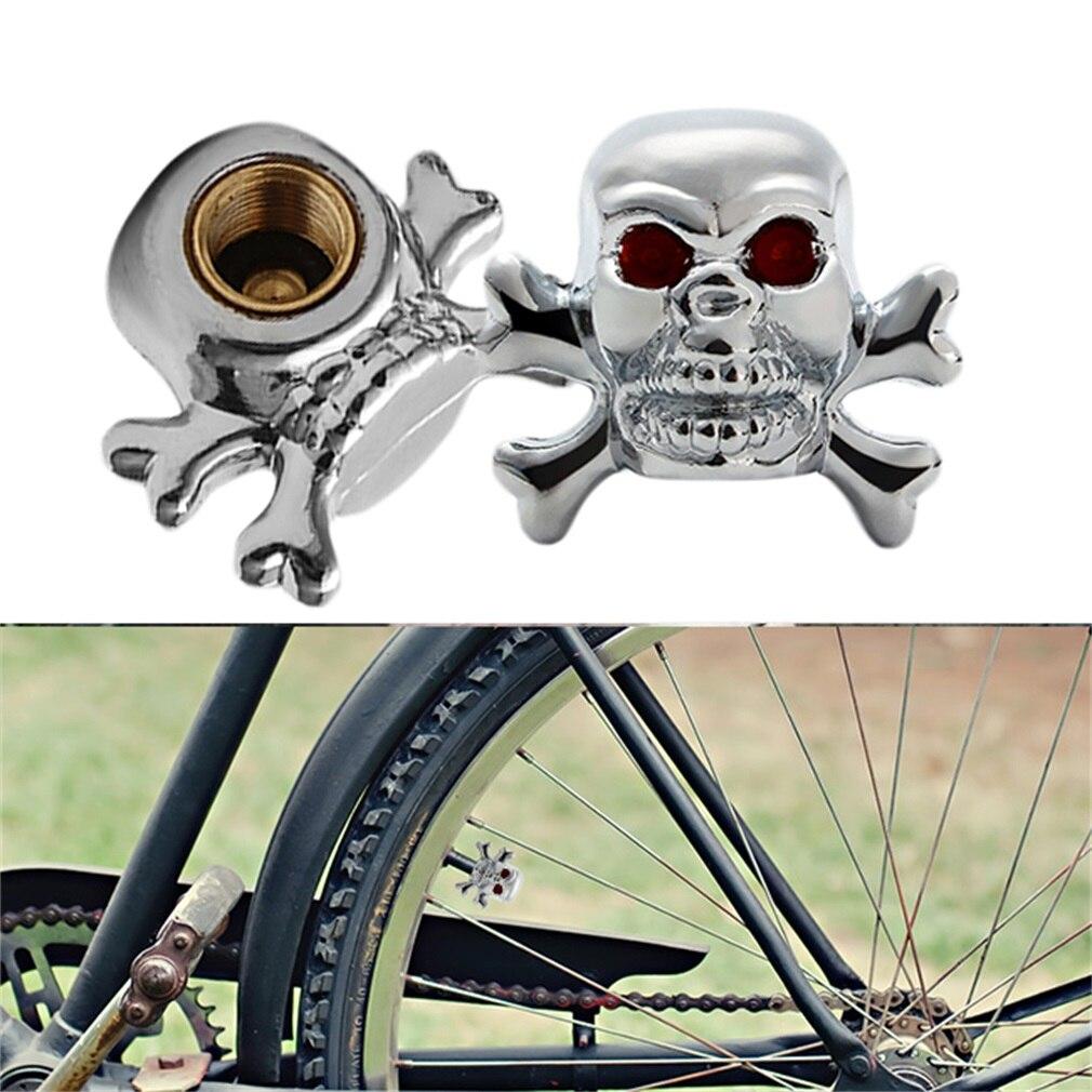 Sliver Universal Fancy Pirate Skull Tire Tyre Air Valve