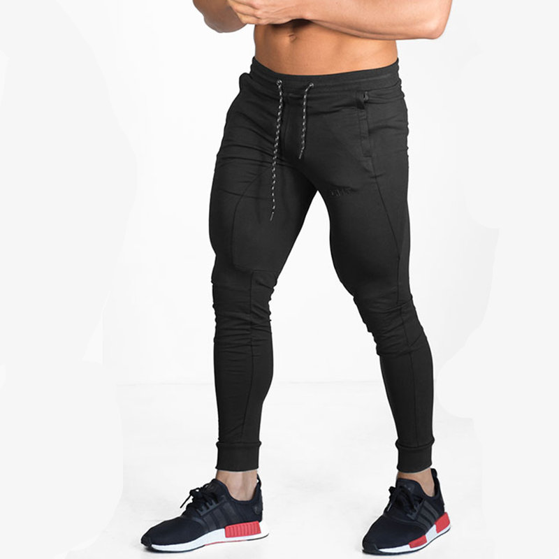 2017 Newest Mens cotton Sweatpants Man Autumn Winter Gyms Fitness trousers Joggers workout Brand Sportswear Skinny Pencil Pants