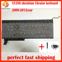 5pcs/lot New Ukrainian Ukraine Keyboard For Macbook Pro 15″ A1286 Ukraine keyboard Unibody 2009 2010 2011 2012year