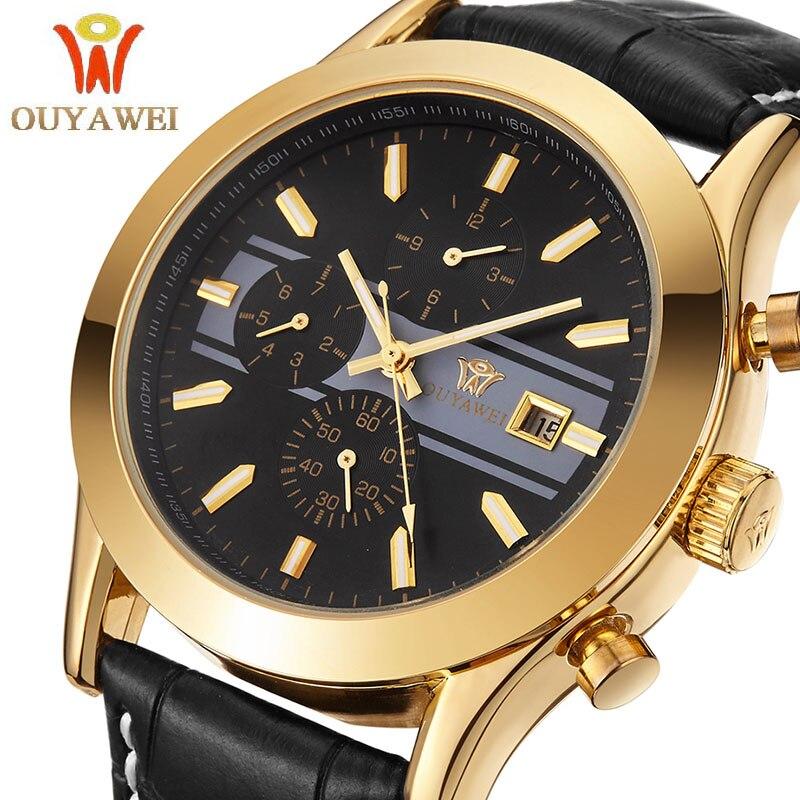 Mens Watches Top Brand Luxury Men Wrist watch Business Mechanical watches Ouyawei Brand Clock xfcs